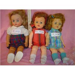 3 Dolls Ideal Stuffed Skin Miles City M