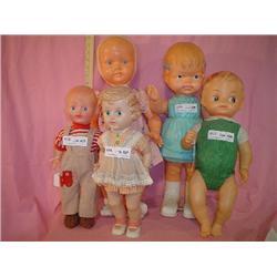 5 Large Plastic Dolls Louis Marx & Co M