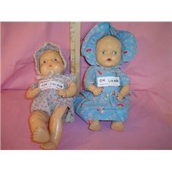2 Baby Dolls Sun Rubber Co Miles City M