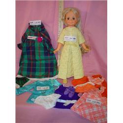 Talking Velvet Ideal Doll Works w Cloth