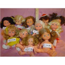 11 Dolls Playmates Uneeda 1960 MT