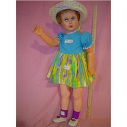 Large Tall Doll w straw Hat Montana