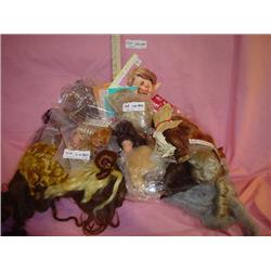 Doll Wigs Some in Bags Approx 45 MT