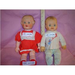 2 Stuffed Skin Dolls Unmarked Montana