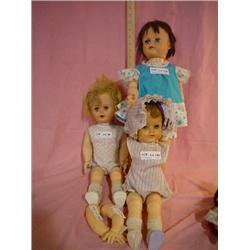 3 Big Dolls Uneeda Hinged Eegee MT