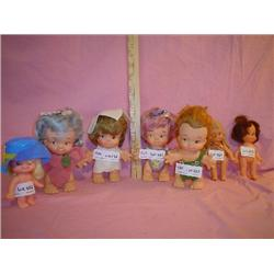 7 Dolls dressed in felt Uneeda Montana
