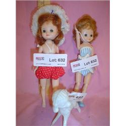2 Betsy McCall Dolls Jointed MT