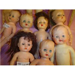 Box of 10 Dolls. All are Rubber stuffed