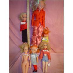 Box of 6 Dolls. Vinyl/Plastic. 1)Tall D