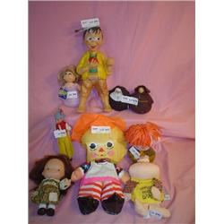 Tray of 9 Assorted Dolls: 1)Plastic Air