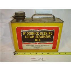 McCormick Deering Cream Separator Oil C