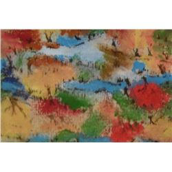 8LA LangdonArt original painting for table, self, paperweight on desk at home or office -peinture