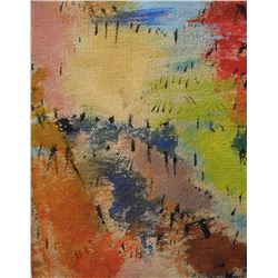 6LA LangdonArt original painting for table, self, paperweight on desk at home or office -peinture