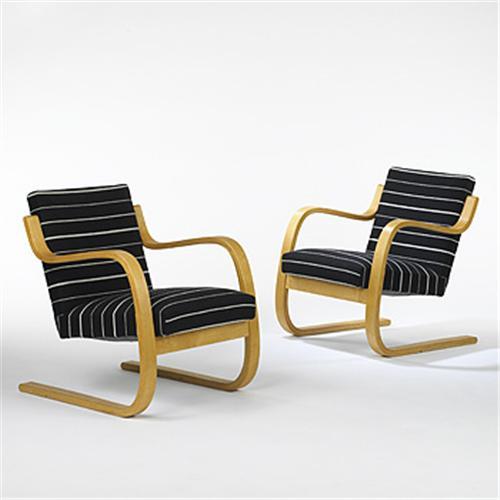 Marvelous Alvar Aalto Lounge Chairs Pair Art Pabps2019 Chair Design Images Pabps2019Com