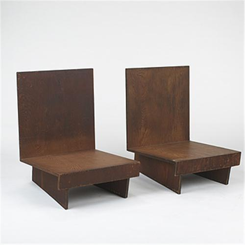 Brilliant Frank Lloyd Wright Lounge Chairs From Theyellowbook Wood Chair Design Ideas Theyellowbookinfo