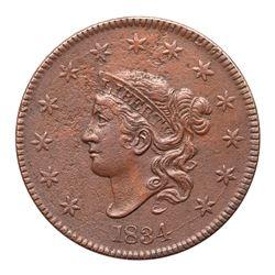 1834 N-5 R5 Large 8 & Stars, Medium Letters F15