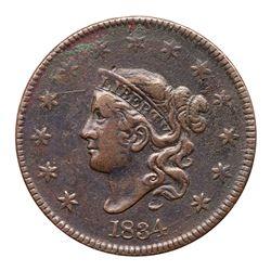 1834 N-5 R5 Large 8 & Stars, Medium Letters F12