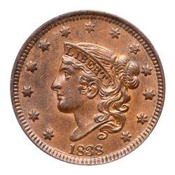 1838 N-4 R2 PCGS graded MS62 Brown