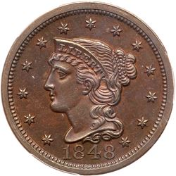 1848 N-19 R6- PCGS graded Proof-64 Brown, CAC Approved