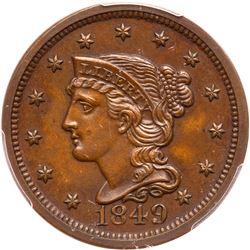 1849 N-18 R6 PCGS graded Proof-64+ Brown