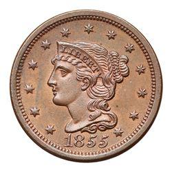 1855 N-10 R1 Italic 55 MS62