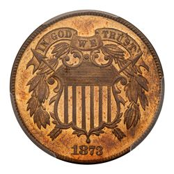 1873 Two Cents. Closed 3. PCGS PF65