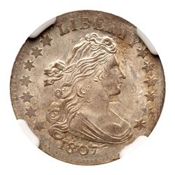 1807 Draped Bust Dime. NGC MS65