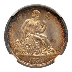 1837 Liberty Seated Dime. NGC MS66