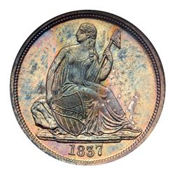 1837 Liberty Seated Dime. NGC MS65