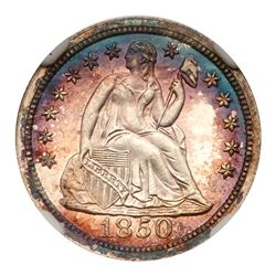 1850 Liberty Seated Dime. NGC PF64