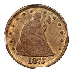 1875 Twenty Cents. NGC PF65