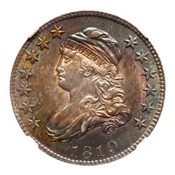 1819 Capped Bust Quarter Dollar. Large 9. NGC MS64