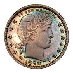 1898 Barber Quarter Dollar. NGC PF68
