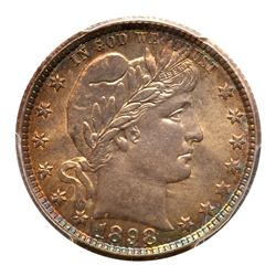 1898-O Barber Quarter Dollar. PCGS MS66