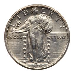 1920 Liberty Standing Quarter Dollar