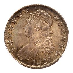 1827 Capped Bust Half Dollar. Curl base 2. PCGS MS65