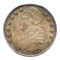 1829 Capped Bust Half Dollar. PCGS MS65