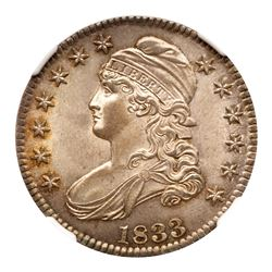 1833 Capped Bust Half Dollar. NGC MS66