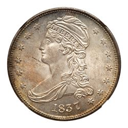 1837 Capped Bust Half Dollar. NGC MS65