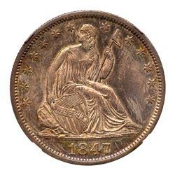 1847-O Liberty Seated Half Dollar. NGC MS66