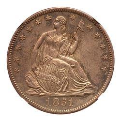 1851-O Liberty Seated Half Dollar. NGC MS65