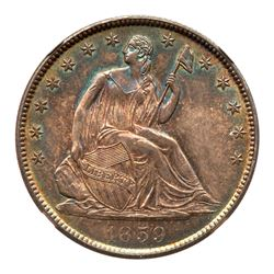 1859-O Liberty Seated Half Dollar. NGC MS65