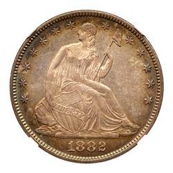 1882 Liberty Seated Half Dollar. NGC MS67