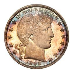 1893 Barber Half Dollar. PCGS PF68