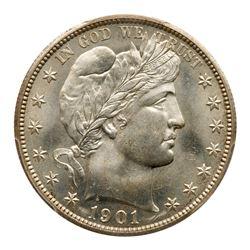 1901-S Barber Half Dollar. PCGS MS66