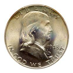 1948 Franklin Half Dollar. PCGS MS67