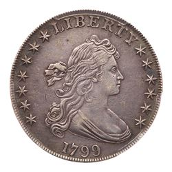 1799 Draped Bust Dollar. PCGS EF45