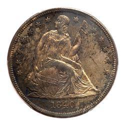 1840 Liberty Seated Dollar. PCGS MS62