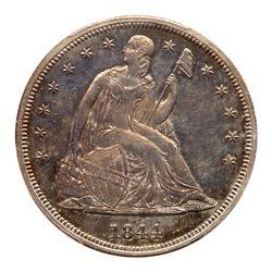 1844 Liberty Seated Dollar. PCGS MS63