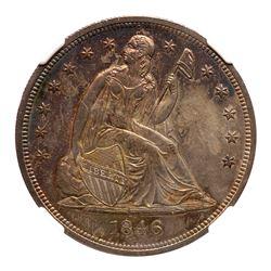 1846 Liberty Seated Dollar. NGC MS65